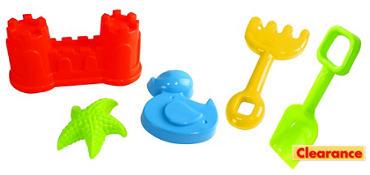 Castle Beach Toy Set 5pc