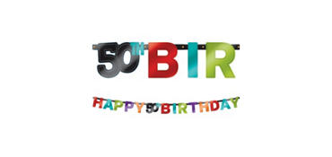 Celebrate 50th Birthday Banner