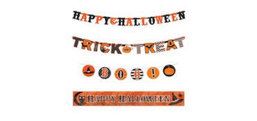 Modern Halloween Banners 4ct