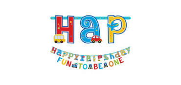 All Aboard 1st Birthday Letter Banners 2ct