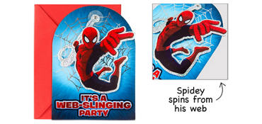 Premium Prismatic Spider-Man Invitations 8ct