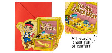 Premium 3D Jake and the Never Land Pirates Invitations 8ct