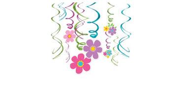 Flower Swirl Decorations 12ct