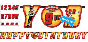 Power Rangers Birthday Banner
