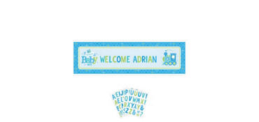 Boy Welcome Baby Giant Personalized Banner - Welcome Little One