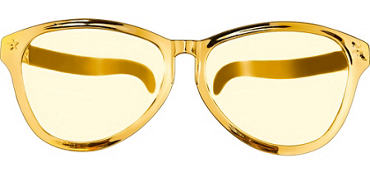 Gold Giant Fun Glasses