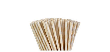 Vanilla Cream Striped Paper Straws 80ct
