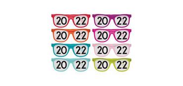 Colorful 2017 Printed Glasses 8ct