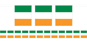 Green, White & Orange Flag Pennant Banner