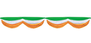 Green, White & Orange Bunting