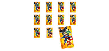 Jumbo Justice League Stickers 24ct