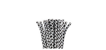 Black Diamond Paper Straws 24ct