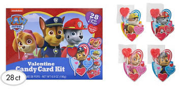 PAW Patrol Exchange Cards with Lollipops 28ct