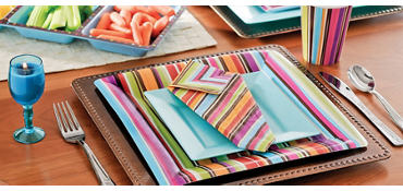 Stripe Style Square Party Supplies