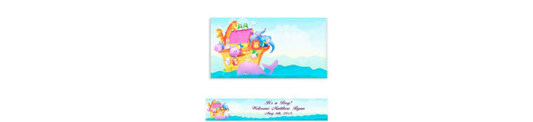 Custom Two By Two Animals Baby Shower Banner 6ft