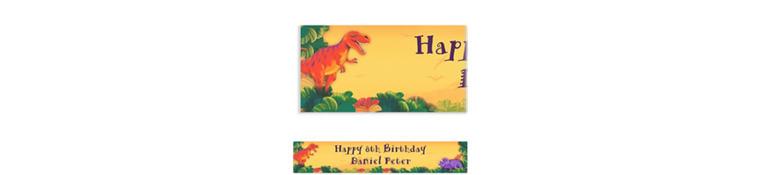 Prehistoric Dinosaurs Custom Birthday Banner