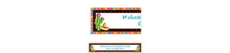 Custom Fiesta Fun Banner 6ft