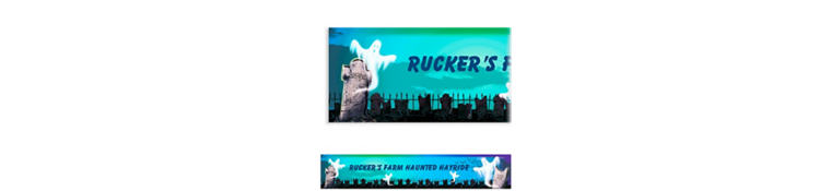 Custom Mostly Ghostly Halloween Banner 6ft