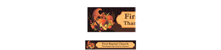 Custom November Harvest Thanksgiving Banner 6ft