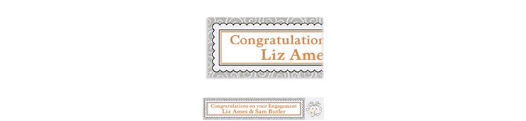 Platinum Proposal Custom Bridal Shower Banner 6ft