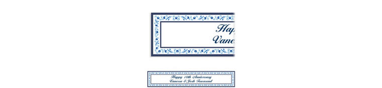 Custom Blue Provence Banner 6ft