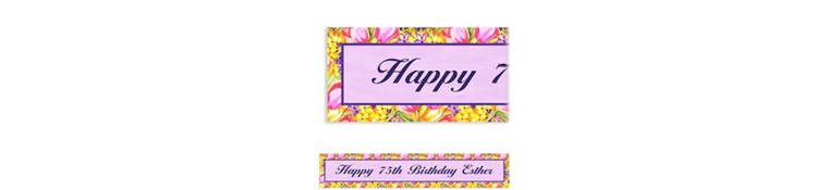 Custom Tulips Banner 6ft