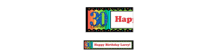 A Year to Celebrate 30 Custom Birthday Banner