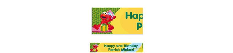 Elmo Birthday Custom Birthday Banner 6ft