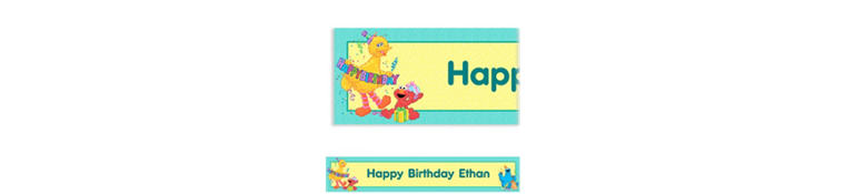 Sesame Street Custom Birthday Banner 6ft