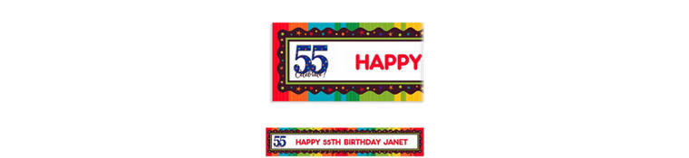 A Year to Celebrate 55 Custom Banner 6ft