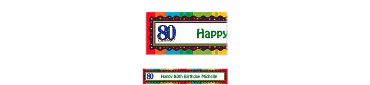 A Year to Celebrate 80 Custom Banner 6ft