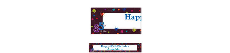 Custom The Party Continues 85th Banner 6ft