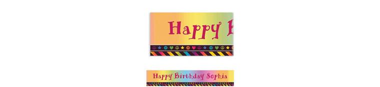 Neon Birthday Girl Custom Banner 6ft