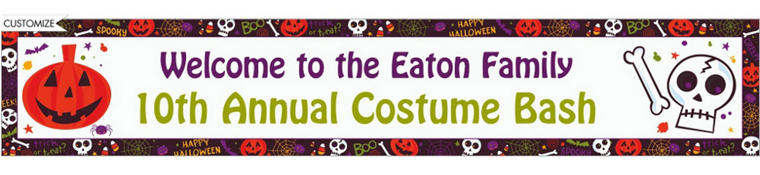 Custom Spooktacular Halloween Banner 6ft