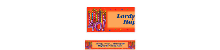 Great Birthday 40 Custom Banner 6ft