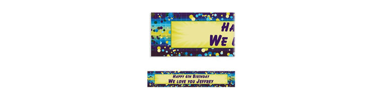 Chromatic Bubbles Custom Banner 6ft