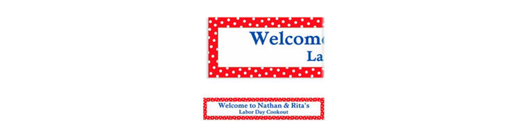 Red Patriotic Polka Dot Custom Banner