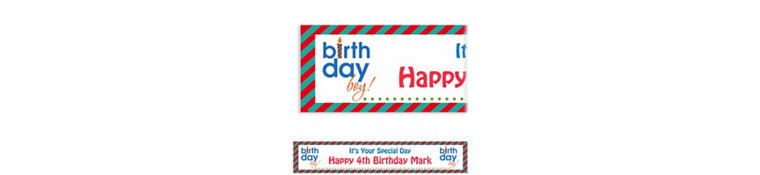 Custom Birthday Boy Text Banner 6ft
