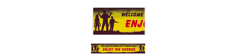 Custom Beware Zombies Halloween Banner 6ft