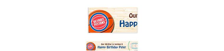 Custom Detroit Pistons Banner 6ft