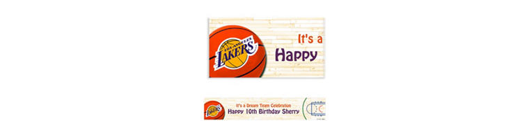 Los Angeles Lakers Custom Banner 6ft