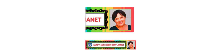 Custom A Year to Celebrate 55th Photo Banner 6ft
