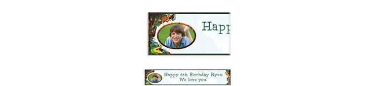Jungle Safari Custom Photo Banner 6ft