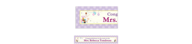 Chic Bride Custom Bridal Shower Banner 6ft