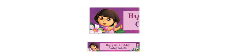 Dora Flower Fun Custom Banner 6ft