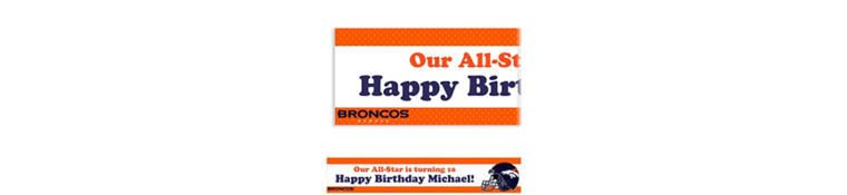 Denver Broncos Custom Banner 6ft
