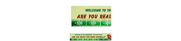 NFL Drive Custom Banner 6ft