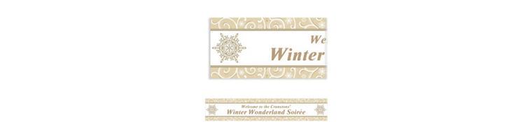 Custom Shimmering Snowflake Banner 6ft