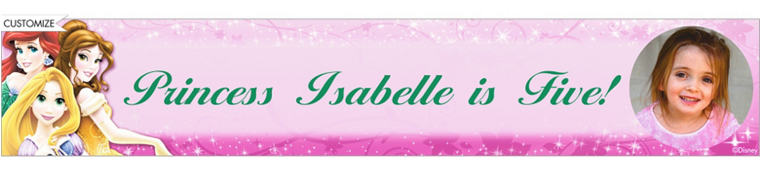 Disney Princess Sparkle Custom Photo Banner