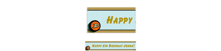 Custom Anaheim Ducks Banner 6ft